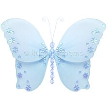 Butterfly Hanging Twinkle Nylon 3D Wall Decor