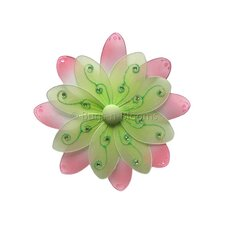 Flower Hanging Two-Tone Nylon 3D Wall Decor