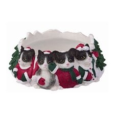 Black And White Cat Pet Candle Topper