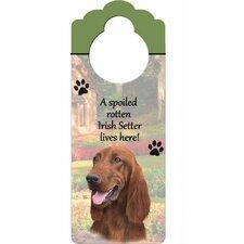 Irish Setter Pet Door Hanger (Set of 2)