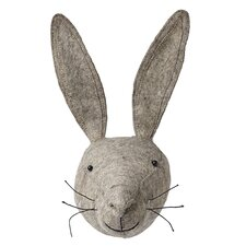 Grey Hare Head Wall Decor