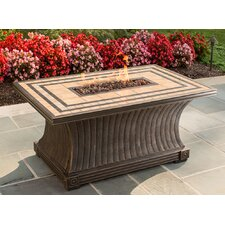 Tuscan Porcelain Top Gas Fire Pit Table