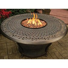 Charleston Cast Top Gas Fire Pit Table