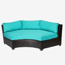 Barbados Curved Armless Sofa with Cushions