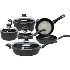 Rialto 10-Piece Aluminum Non-Stick Cookware Set with Thermopoint Fry Pans