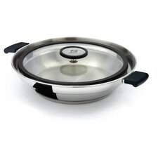 Stainless Steel Fry Pan with Anti-Splatter Lid