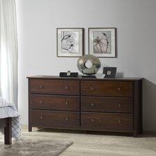 Shaker 6 Drawer Dresser