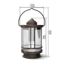 Duracell 5 Lumen Metal & Glass Tabletop Lantern