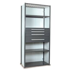 "V-Grip 84"" Shelving with Drawers Unit - 4Drw/5Shelf Closed Starter,  4 drawers - (2) 3"", 4.5"" & 7.5"" H; 400 lb capacity"