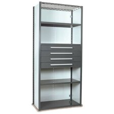 "V-Grip 84"" Shelving with Drawers Unit - 4Drw/5Shelf Closed Starter,  4 drawers - (4) 4.5"" H; 400 lb capacity"