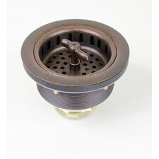 Aged Copper 3 1/2 in. Wing Nut Kitchen / Bar / Prep Basket Strainer