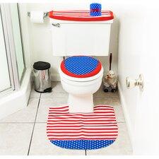 4 Piece America Themed Bathroom Decor Set
