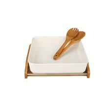4 Piece Square Ceramic Serving Bowl Set