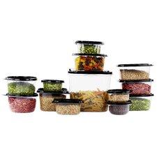 42 Piece Reusable Plastic Food Storage Container Set