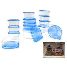 30 Piece Plastic Food Storage Container Set