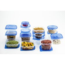 34 Piece Plastic Food Food Storage Container Set
