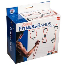 3 Pack Resistance Band Workout Fitness Tube Strength Exercise Bands