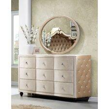 Diamond 9 Drawer Dresser with Mirror