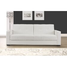 Faenza Leather Convertible Sofa