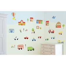 Jolly Town Transport Room Décor Kit Wall Decal