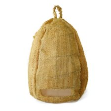 Brown Moss Bee Skep with Hanger Wall Decor