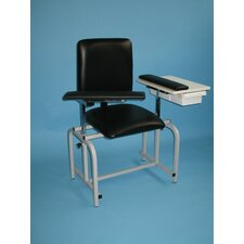 Upholstered Blood Drawing Chair with Drawer