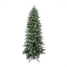 12' Washington Frasier Fir Slim Artificial Christmas Tree with Clear Lights