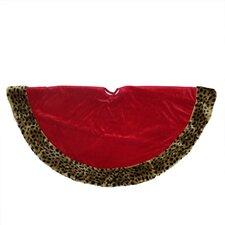 Diva Safari Velveteen Plush Cheetah Print Christmas Tree Skirt