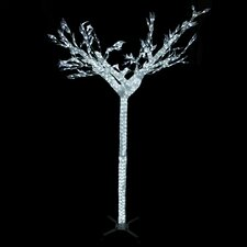 4.9' Commercial Acrylic Ice Christmas Tree with Cool White Lights
