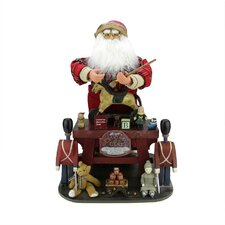 Santa Claus the Toy Maker with Work Station Christmas Decoration