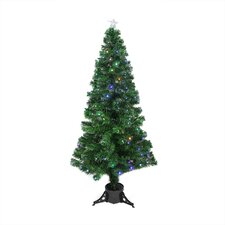 6' Color Changing Fiber Optic Christmas Tree