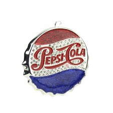 Classic Pepsi-Cola Bottle Cap Logo Christmas Ornament with European Crystal