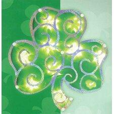 Lighted Shimmering St. Patrick's Irish Shamrock Window Silhouette Decoration