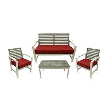 4 Piece Acacia Wood Outdoor Furniture Set