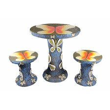 3 Piece Butterfly Table and Chair Novelty Garden Patio Furniture Set