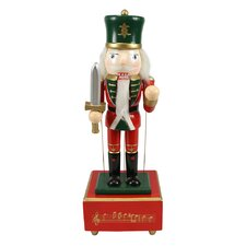 Decorative Wooden Animated and Musical Christmas Nutcracker Guard Soldier