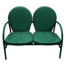Hunter Retro Metal Tulip 2-Seat Double Chair