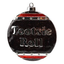 Tootsie Roll Candy Logo Christmas Ornament with European Crystal