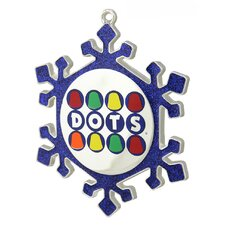 Snowflake Dots Candy Logo Christmas Ornament with European Crystal