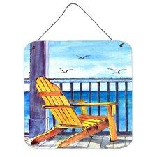 Adirondack Chairs Aluminum Hanging Painting Print Plaque