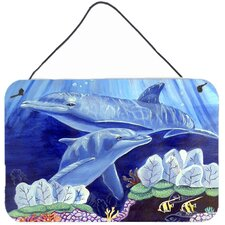 Dolphin Under the Sea Aluminum Hanging Painting Print Plaque