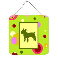 Bull Terrier Aluminum Hanging Graphic Art Plaque