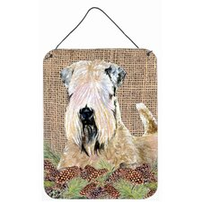 Wheaten Terrier Soft Coated Aluminum Hanging Painting Print Plaque