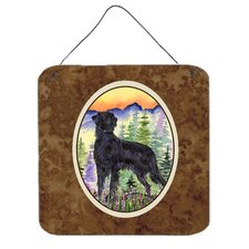 Flat Coated Retriever Aluminum Hanging Painting Print Plaque