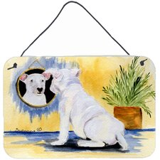 Bull Terrier Indoor Aluminum Hanging Painting Print Plaque