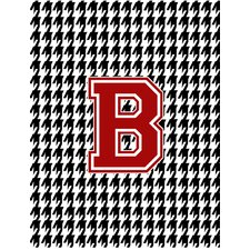 Houndstooth Black Initial B Monogram Initial 2-Sided Garden Flag