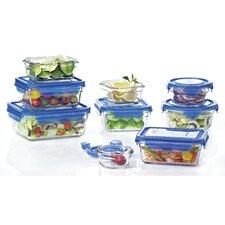 Glasslock 18 Piece Blue Lid Food Container Set
