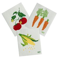 3 Piece Veggie Cleaning Cloth Set