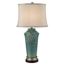 "Organic Flowers 31"" H Table Lamp with Empire Shade"