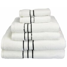 Carlyll Collection 6 Piece Towel Set